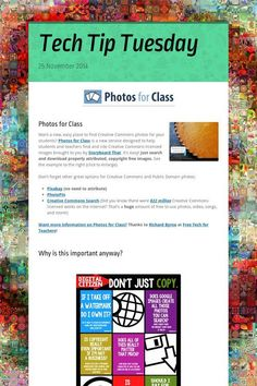 Tech Tip Tuesday: Photos for Class (Creative Commons photos with attributions included)