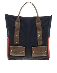 Waxed canvas carryall bag