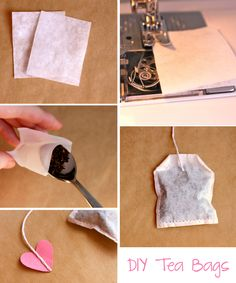 Homemade tea bags... this tutorial suggests using coffee filters, but you could make reusable ones using a sheer fabric.