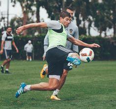 "LA Galaxy on Instagram: ""Soccering in the rain. (: @moracreativestudio)"""