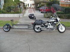 Foto: CARRO TERMINADO Motorcycle Cargo Trailer, Pull Behind Motorcycle Trailer, Bike Trailer, Cargo Trailers, Cargo Bike, Trailer Hitch, Ktm 450 Exc, Bike Food, Klr 650