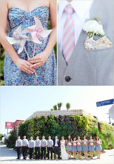 Love the blush and grey on that groomnsman. Beoming obsessed with patterns <3