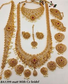 Full bridal jewellery available at AnkhJewels for booking WhatsApp on Indian Bridal Jewelry Sets, Silver Jewellery Indian, Wedding Jewelry Sets, Temple Jewellery, Bridal Jewellery, Handmade Jewellery, Jewelry Design Earrings, Gold Jewelry, India Jewelry
