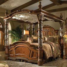 Michael Amini Villa Valencia Canopy Bed | Wayfair