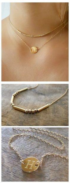 A perfect gold necklace set that combines 2 necklaces