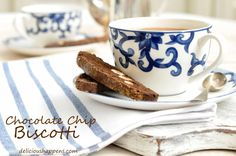 from The Harvest Kitchen / adapted from David Lebovitz recipe - awesome Chocolate Chip Biscotti - perfect for special occasions!! @theharvestkitchen.com