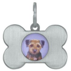 #Border Terrier Pet ID Tag - #pettag #pettags #dogtag #dogtags #puppy #dog #dogs #pet #pets #cute #doggie
