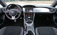 A little look at the sleek interior of the new 2013 Subaru BRZ.