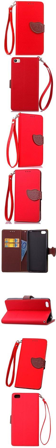 Love Leaf Card Lanyard Pu Leather for Xiaomi 5 -$5.93