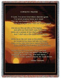 Cowboys Prayer Western Throw Blanket