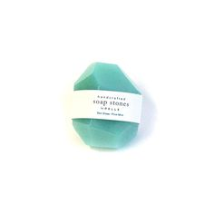 Image of Soap Stones by PELLE: Sea Glass/Pine Mint Nugget 2oz SPECIAL EDITION