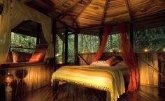 Treehouse bedroom    https://www.facebook.com/pages/Pura-Vida-Travel/420631911318925?ref=hl