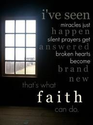 Faith.. so true, I see these things almost every day when I go to work :)