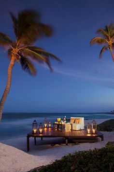 Incredibly romantic beach dinner for two. Gorgeous! #RivieraMaya #romance