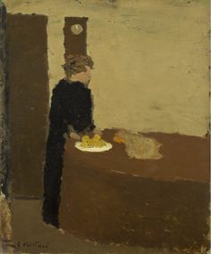 Édouard Vuillard (French, 1868-1940), Woman in Black, c. 1891. Oil on cardboard, 26.8 x 21.9 cm.