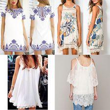 2015 Fashion Women Summer Casual Shirt Sexy Vintage Retro Short Mini Beach Dress