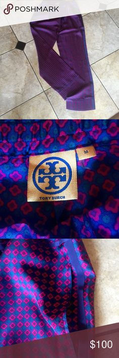 Tory Burch silk loungewear you can wander out in! Tory Burch.  Never worn. Size M drawstring closure pants.   Side pockets.  Lounge wear.  Top size Small.  Pants M top S!!!  Bought two sets since I needed top M bottom XS. Opposite! Custom duo! Tory Burch Pants Wide Leg