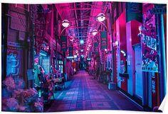 cyberpunk city street slum district concept art environment render, illustration scifi fantasy environment architecture from dyinginhd Cyberpunk Aesthetic, Cyberpunk City, Neon Aesthetic, Vaporwave, Neon Noir, New Retro Wave, Landscape Concept, Landscape Background, Neon Lighting