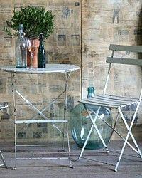 Vintage French Café Bistro Table & 2 Chairs Set-antique,wood,bistro,garden,furniture,