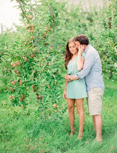 Yorktown Heights Orchard Engagement Session from Lindsay Madden Photography  Read more - http://www.stylemepretty.com/new-york-weddings/2013/10/02/yorktown-heights-orchard-engagement-session-from-lindsay-madden-photography/
