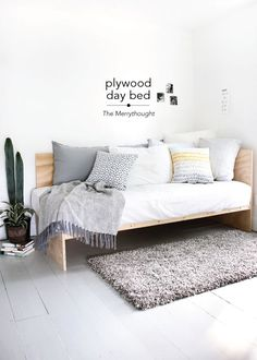 This DIY Plywood Day Bed is pretty cool