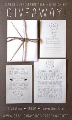 Rustic Wedding Invitation Giveaway