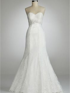 David's Bridal Weddings Dress | David's Bridal Wedding Dress: Strapless Sweetheart Gown with Beaded ...