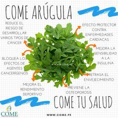 Beneficios de comer #Arugula #COMEtusalud