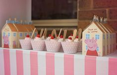 Peppa 'Princess' Pig Birthday Party Ideas is part of Karas Party Ideas Peppa Pig Princess Birthday Party - Peppa 'Princess' Pig Photo Gallery at Catch My Party Pig Birthday, Birthday Parties, Princess Birthday, Princess Party, Birthday Ideas, Sofia Party, Baby Party, Pig Candy, Cumple Peppa Pig