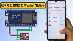 Esp8266 Arduino, Arduino Motor, Arduino Programming, Esp8266 Projects, Humidity Sensor, Pi Projects, Temperature And Humidity, Electronics Projects, Meteorology