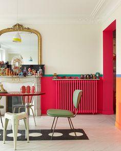 farverig-indretning-spisestue-pink-colorful