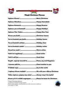 Tlingit Christmas Phrases - Sealaska Heritage Institute
