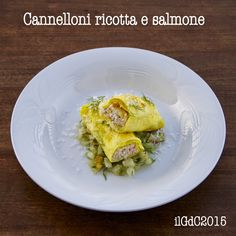 il giardino dei ciliegi: Cannelloni ricotta e salmone con ragù bianco di fi...