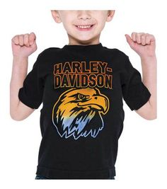 4830b312f07 Free shipping - Harley-Davidson Little Boys  Swoop Thermo Print Short Sleeve  Toddler Tee
