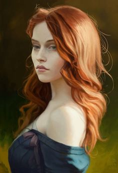 Fourteenth of the Hill (Triss Merigold from The Witcher), Paul Spitzyn on ArtSta. Fantasy Portraits, Character Portraits, Character Art, Fantasy Artwork, Fantasy Women, Fantasy Girl, Fantasy Characters, Female Characters, Triss Merigold
