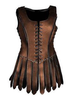 Female Gladiator Leather Armour