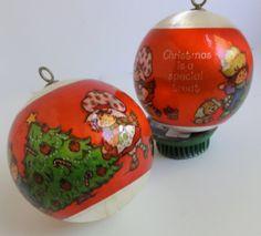 1982 Strawberry Shortcake Satin Ball Ornament