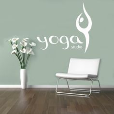 Yoga Studio Vinyl Aufkleber Yoga Symbol Wall von USAmadeproducts