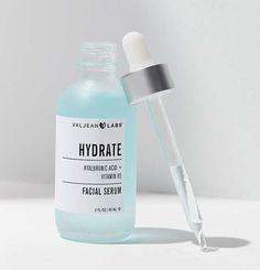 This baby blue face serum that comes in a muted glass bottle for making beauty really feel like a science.