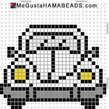 VW Beetle hama perler beads pattern by paige. , VW Beetle hama perler beads pattern by paige Beaded Cross Stitch, Cross Stitch Charts, Cross Stitch Embroidery, Cross Stitch Patterns, Hama Beads Patterns, Loom Patterns, Beading Patterns, Crochet Patterns, Pixel Crochet