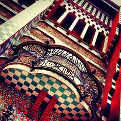 Another Antoni Gaudí masterpiece in Barcelona. There's something very intriguing about a checkerboard print. Perhaps we're still caught up by Alice in Wonderland.