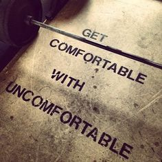 Get comfortable with Uncomfortable. Build that muscle up & grow a little each day. ~Susan Harrow http://www.susanharrow.com #girlpower #motivation #inspiration
