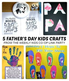 6 Fathers Day Kids Crafts - The Kids Co-Op - B-InspiredMama.com