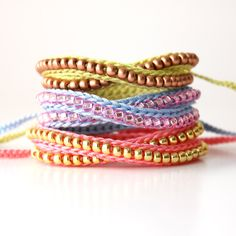 Crochet Wrap Beaded Bracelet