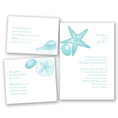 Seashells announce your beach wedding on this invitation set - Includes reception and respond cards. #BeachWedding #DestinationWedding #DavidsBridal #WeddingInvitation http://www.invitationsbydavidsbridal.com/Wedding-Invitations/Beach--Destination-Invitations/2947-DB35041-Seashore-Treasures--Pool--Invitation-Bundles.pro?&sSource=Pinterest&kw=Destination_DB35041