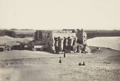 Koum Ombo depuis le nord-est, v. 1856-1860, tiré avant 1862 | Photographe : Francis Frith