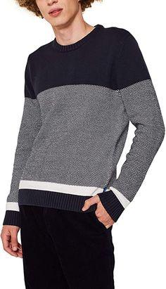Bekleidung, Herren, Pullover & Strickjacken, Pullover Edc By Esprit, Long Sleeve, Sleeves, Sweaters, Mens Tops, T Shirt, Fashion, Sweater Cardigan, Summer