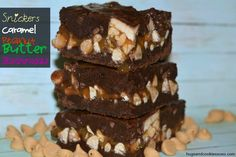 Snickers Caramel Peanut Butter Brownies - Hugs and Cookies XOXO