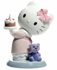 Nao by Lladro Collectible Figurine, Hello Kitty Happy Birthday! - Collectible Figurines - for the home - Macy's