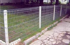This is the type of fencing I want for my land to keep puppies in...and trespassers out..